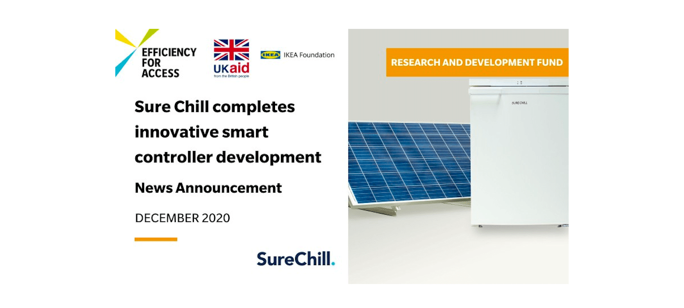 Sure Chill completes innovative smart controller development with support from Efficiency for Access Research and Development Fund