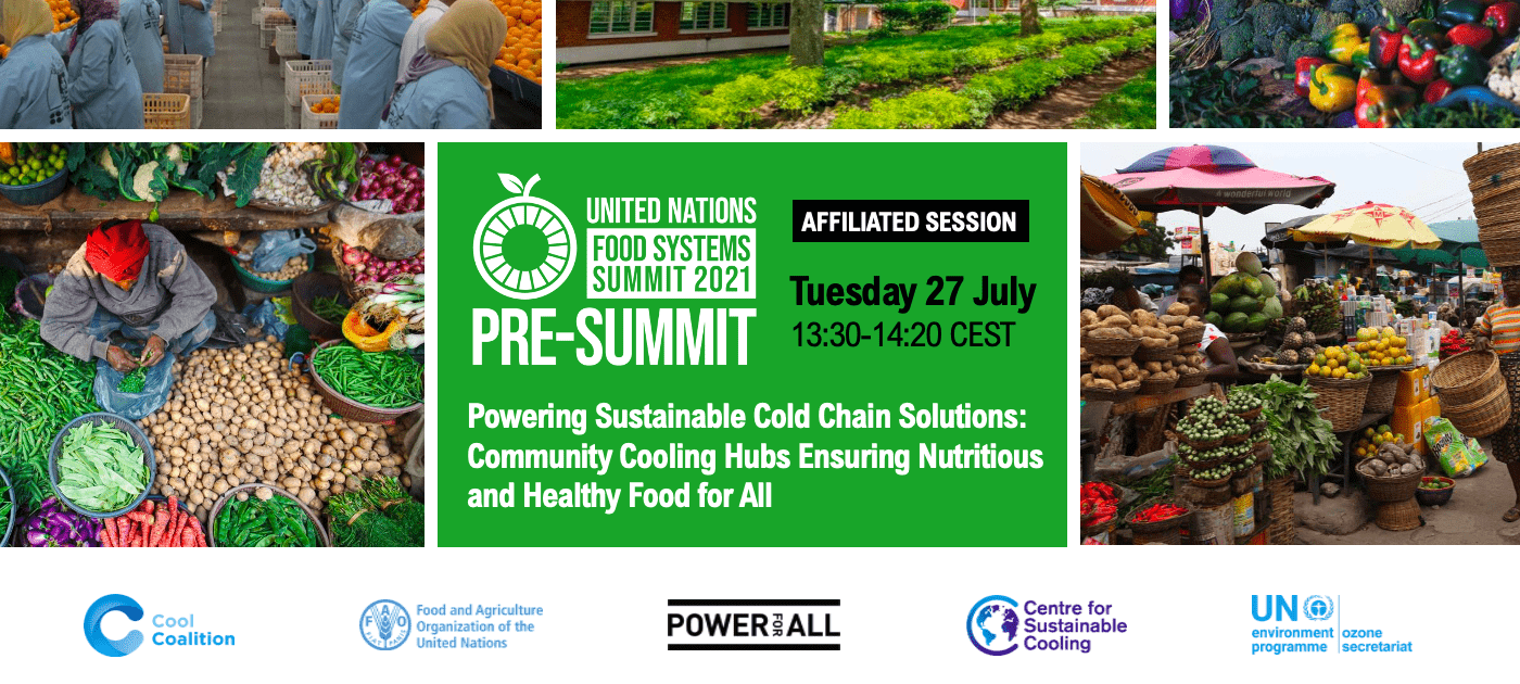 Powering Sustainable Cold Chain Solutions: Community Cooling Hubs Ensuring Nutritious and Healthy Food for All