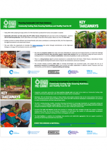 """UN Food Systems Pre-Summit Event: Key Takeaways on """"Powering Sustainable Cold Chain Solutions"""""""