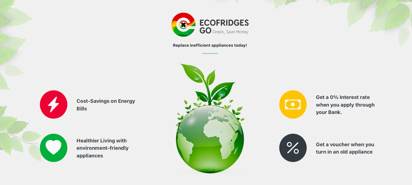 ECOFRIDGES GO Online Shop is now available for consumers to finance new fridges and ACs at 0% interest